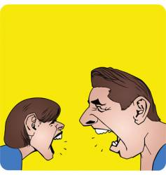 couple yelling vector image