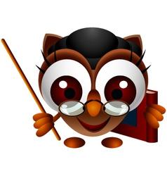 Cute owl presenting vector