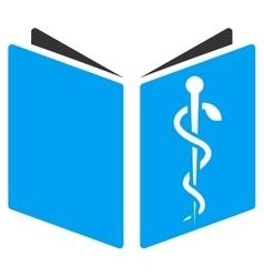 Drug handbook icon vector