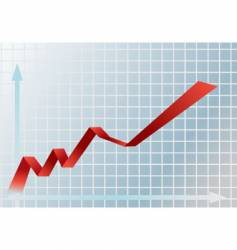 financial graph vector image vector image