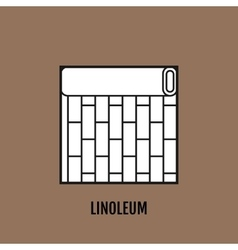 Flat icon of linoleum finishing materials floor vector