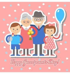 Grandmother and grandfather grandchildren vector