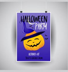 Halloween flier design vector