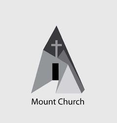 Mount church logo vector