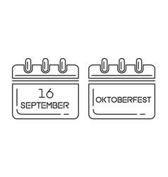 oktoberfest calendar 2017 vector image