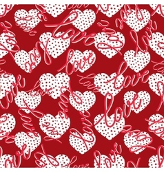 pattern with hearts seamless vector image