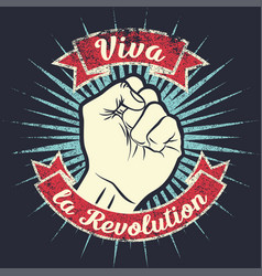 retro revolution poster design vector image