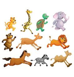 Running animals vector