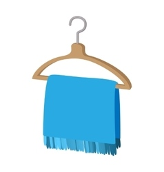 Scarf on coat-hanger cartoon icon vector