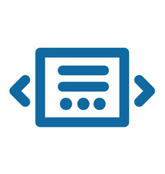 Slider icon blue laconic and simple part of the vector