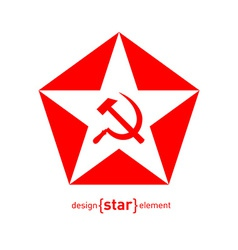star with socialist symbols vector image vector image