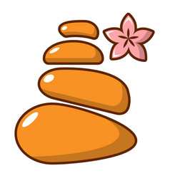 Stones for spa icon cartoon style vector
