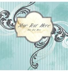 victorian vintage label vector image vector image