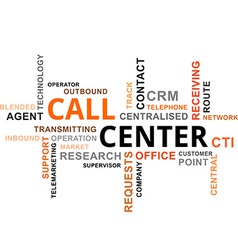 Word cloud call center vector