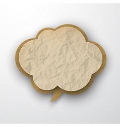 Wrinkled old paper cloud vector