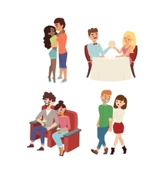 Dating couple set vector