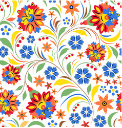 Russian floral ornament vector