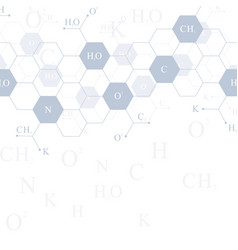 Hexagons genetic modern structure molecule dna vector