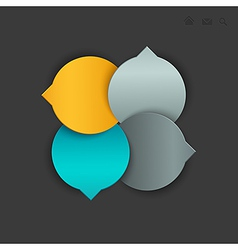 4circle navigation vector image
