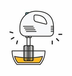 Kitchen mixer icon vector