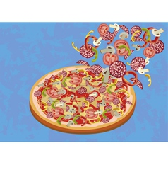 Pizza menu restaurant vector