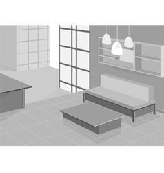 Living room design vector