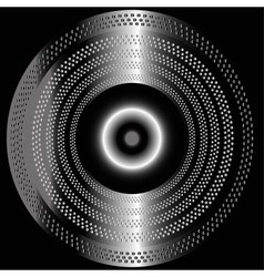 Metal black background with circle vector