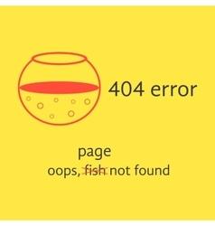 404 error with red empty aquarium vector