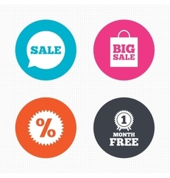 Sale speech bubble icon discount star symbol vector