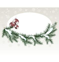 winter christmas vector image