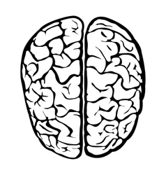 Nice human brain sign vector
