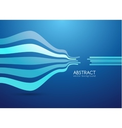 abstract curve lines background for vector image vector image