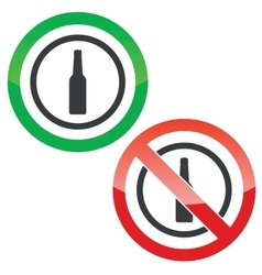 Alcohol permission signs vector image