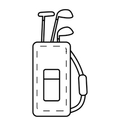 Bag for golf clubs icon outline style vector image