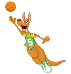 Basketball kangaroo vector