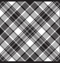 Black check diagonal plaid seamless pattern vector