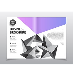 Business brochure design annual report temp vector
