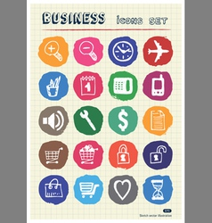 Business shopping and work web icons set vector image vector image