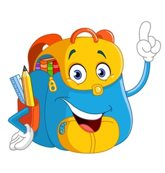cartoon backpack vector image vector image