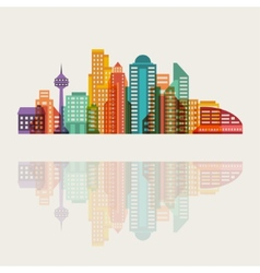 Cityscape background with buildings vector image vector image