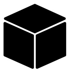 Cube flat icon vector