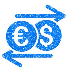 Currency exchange grunge icon vector