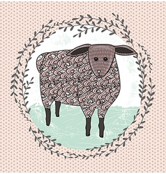 Cute little sheep for children vector
