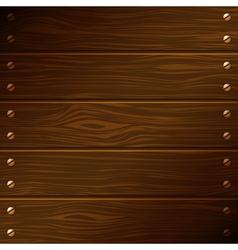 Dark wooden boards vector