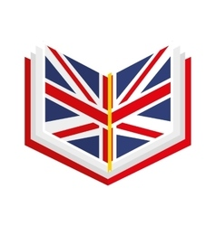 English book isolated icon design vector