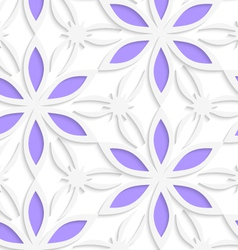 Floristic white seamless vector image vector image