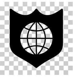global shield icon vector image vector image