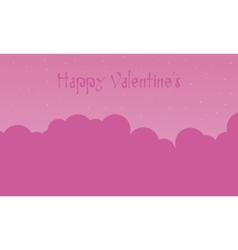 Happy valentine with cloud pink backgrounds vector
