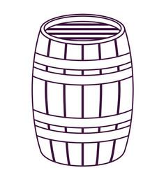 Isolated beer barrel design vector