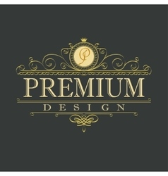 luxury ornament floral design logo vector image vector image